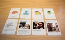 Cartas de elementos de la narración.